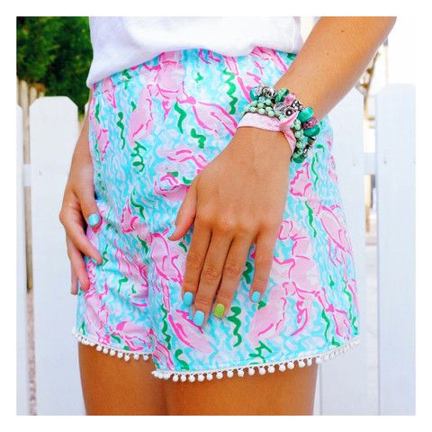 Lobster Pom Pom Shorts