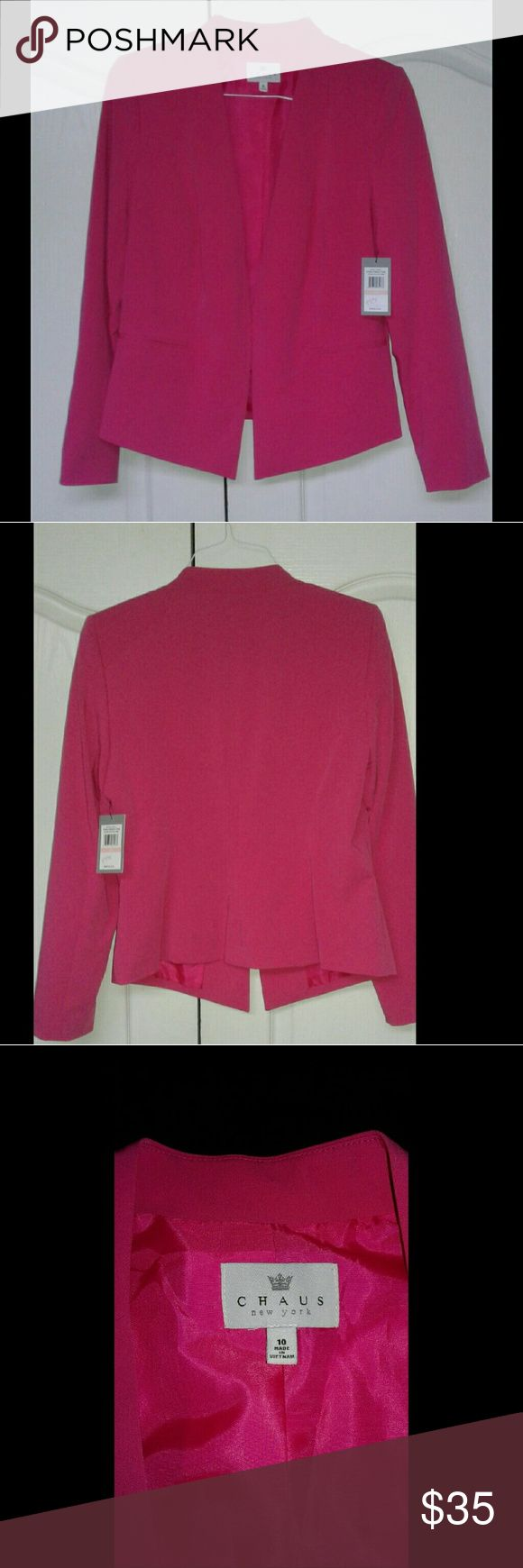 Chaus newyork hot pink blazer Beautiful hot pink chaus blazer New with tags chaus  Jackets & Coats Blazers
