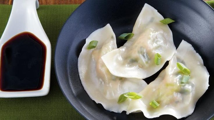 Pork and cabbage mixture stuffed in wonton skins for tasty dumplings. Perfect to serve as appetizers.
