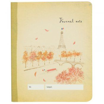 Bateaux Mouches Paris Journal Notebook - from eggcup & blanket UK
