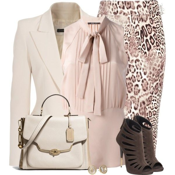 """Love the outfit, but without the jewelry...""""Animal Print Tube Skirt"""" by pinkroseten on Polyvore"""