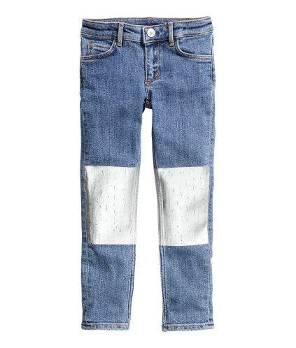 Skinny fit Jeans w/metallic knees $25