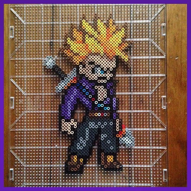 Tunks Dragon Ball perler beads by  mastablasta3 - Visit now for 3D Dragon Ball Z shirts now on sale!