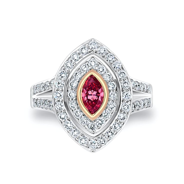 Marquise Cut Pink Argyle Ring