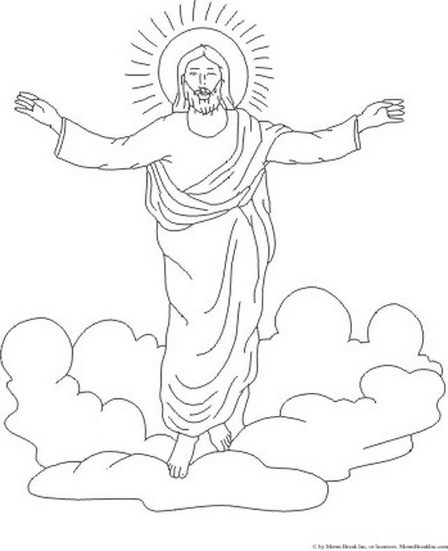 Ascension of Jesus Christ Coloring Pages (With images