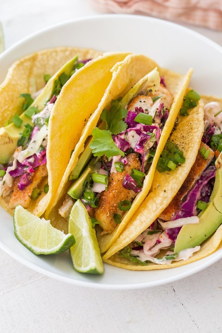 Baked Fish Tacos (Weight Watchers) / Weight Watchers Baked Fish Tacos Recipe