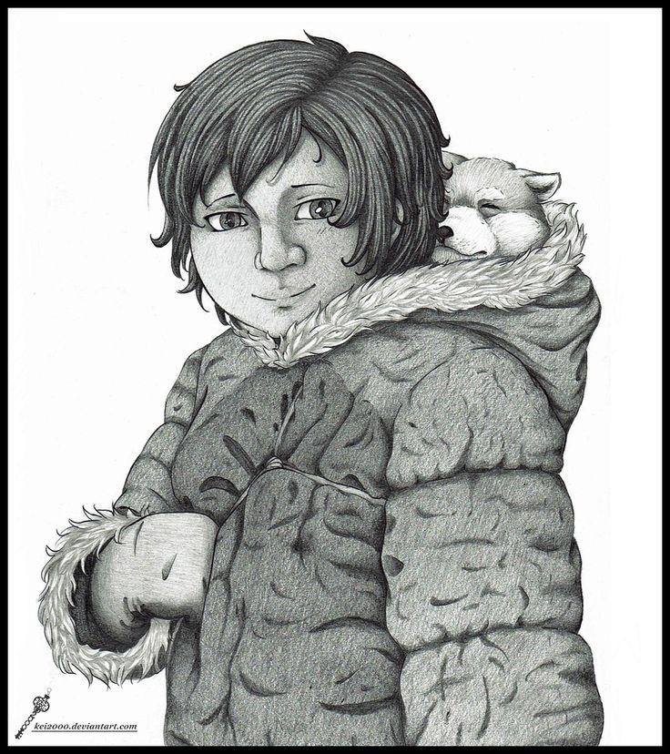 [OC Hetalia] Aqqalu (Greenland) with his dog - by Kei2000