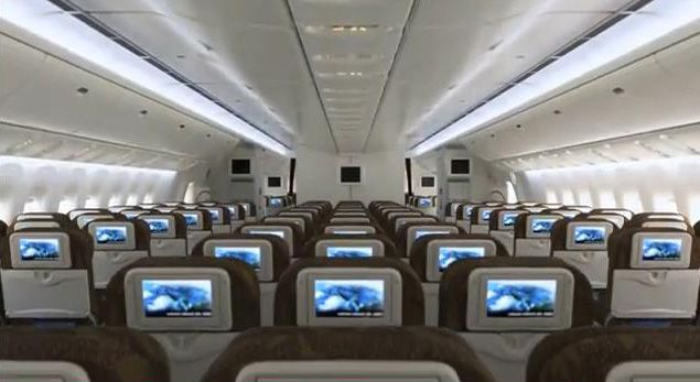 Garuda Indonesia  Boeing 777 Economy Cabin