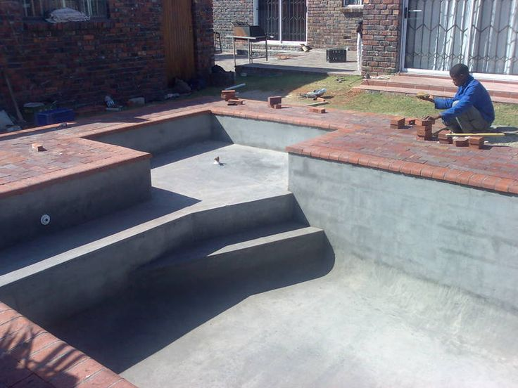 Swimming Pool Cement : Best images about cinder block swimming pool ideas on