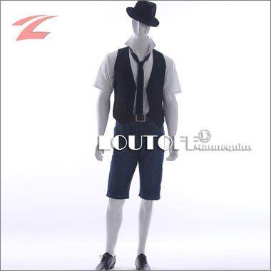 Loutoff Schaufensterpuppe Mannequin Männlich Mann Lack Weiß MGM4