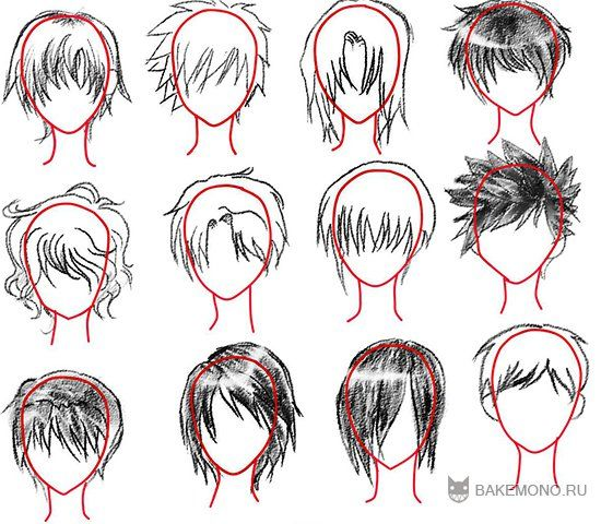 Как рисовать карандашом волосы аниме