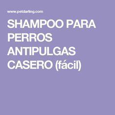 SHAMPOO PARA PERROS ANTIPULGAS CASERO (fácil)