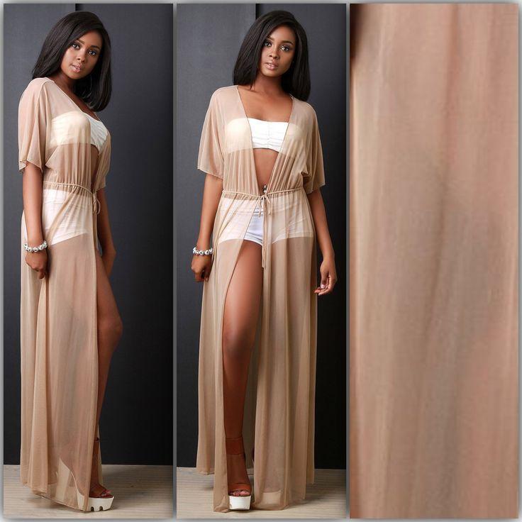 #nude brown mesh cover up #maxi also available in #black #beach #beachwear #beachdress Shop 🍭 MAXIGYRL.COM  #sexydress #maxidress #shopping #fashion #onlineshopping #dresses #blogger #partydress #mididress #dress #mua #fashiondesigner #model #dressmurah #fashiongram #ootd #heels #photoshoot #style #instashop #instashopping #fashionista #stylist #tumblr #shop