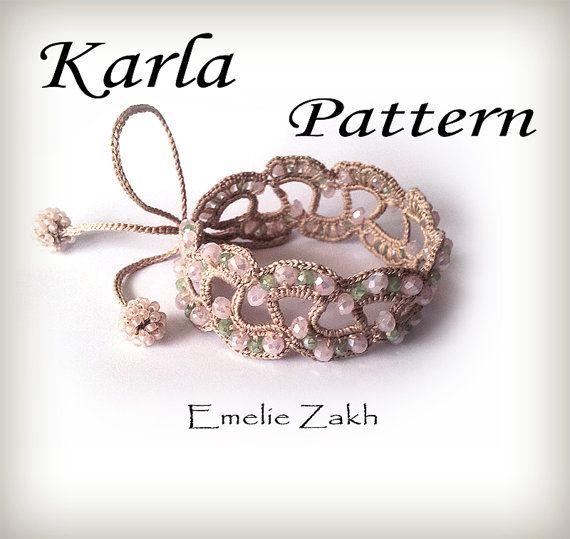 Crochet motif perlé. Modèle exclusif. Fichier PDF par Emeliebeads