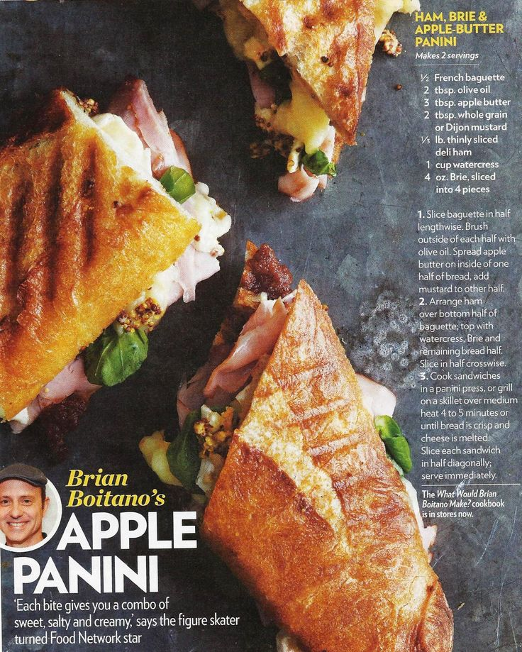 Ham, Brie, and Applebutter Panini | Food: Chicken and Pork | Pinterest