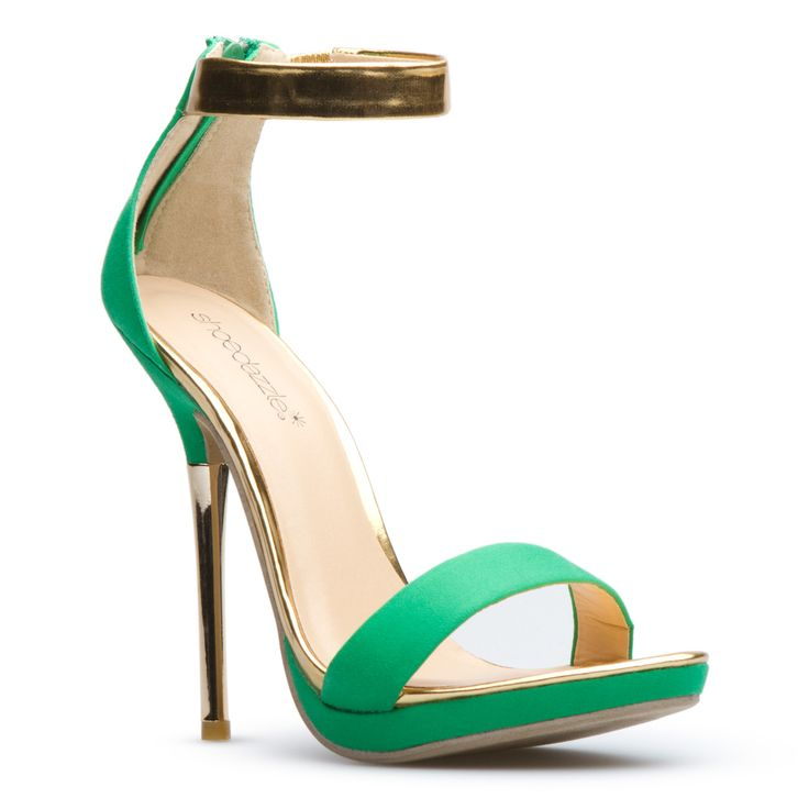 Jessica >> So ooh la la, love the green too!: Green Shoes, High Fashion Heels, Fashion Shoes, Summer Sandals, Shoes Dazzle, Stilettos Heels, Green Sandals, Straps Heels, Jessica Green