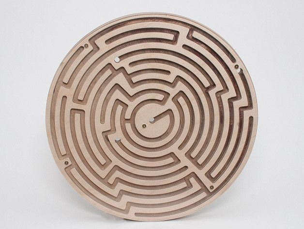 Doublesided Circular Maze by ZenziWerken - Thingiverse