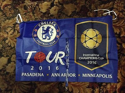 In usa 2016 #chelsea tour flag and lanyard v #liverpool real madrid ac #milan,  View more on the LINK: http://www.zeppy.io/product/gb/2/401206089661/