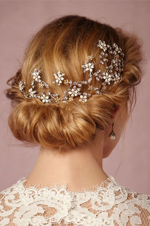 The Next Big Trend in Wedding Hair: Heavy Metal Accessories