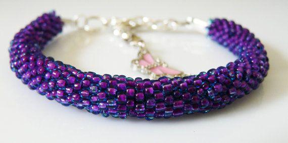 Beaded crochet bracelet. toho bracelet with by EmilyArtHandmade