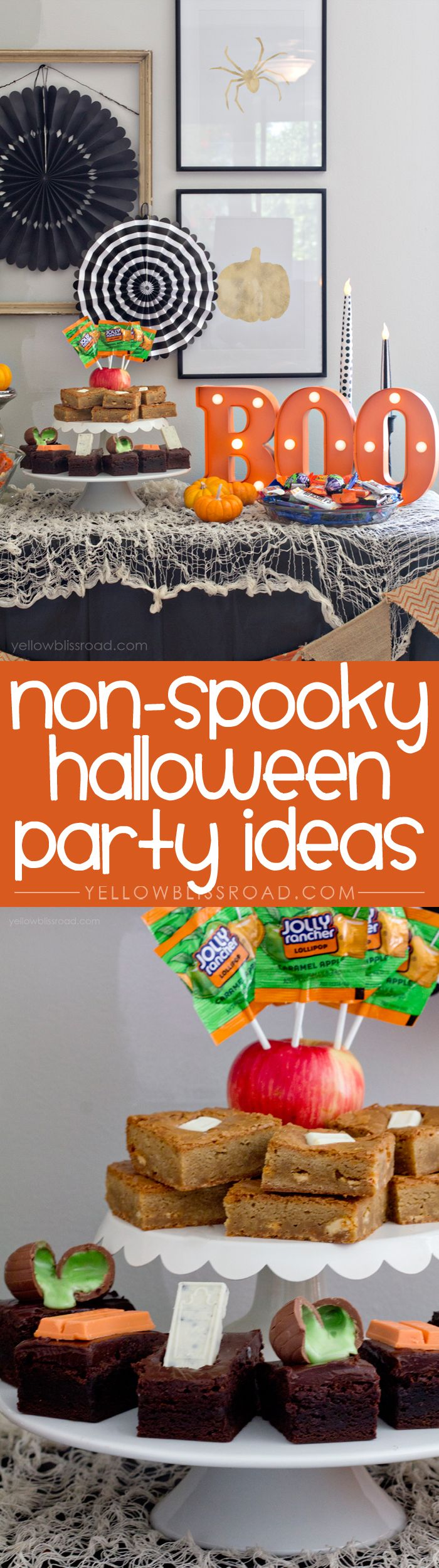 tips for a non scary kids halloween party - Non Scary Halloween Decorations