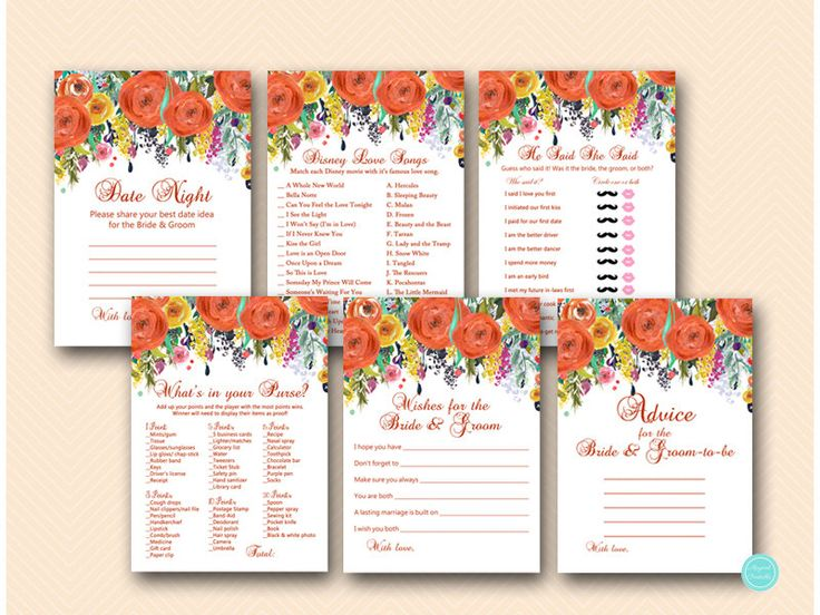 Fall Bridal Shower Game Package, Autumn Bridal Shower, Fall in Love Bridal Shower Game, Orange, Instant Download BS451 by MagicalPrintable on Etsy https://www.etsy.com/listing/465483248/fall-bridal-shower-game-package-autumn