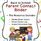 Use this handy Parent Contact Binder to keep track of all your parent-teacher communication.  Just grab the binder anytime you need to make a phone...