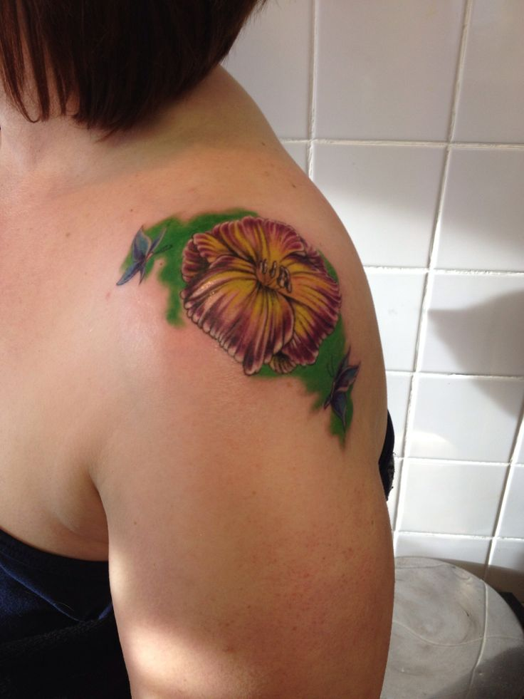 My new tattoo daylily chinese symbol for mother and for Kids with real tattoos