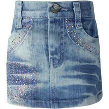 Filles Casual Cristal Crayon Mini Denim Skirts1-4Y Enfants Bleu lavé cristal Zipper enfants filles Mince slinky jeans jupes LL296(China (Mainland))