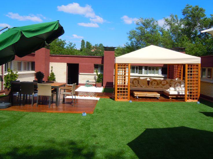 9 best cesped artificial terrazas images on pinterest - Colocacion cesped artificial ...