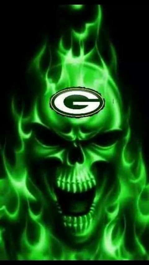 Evil Girl Wallpaper G Skull Green Bay Packers Wallpaper Green Bay Packers