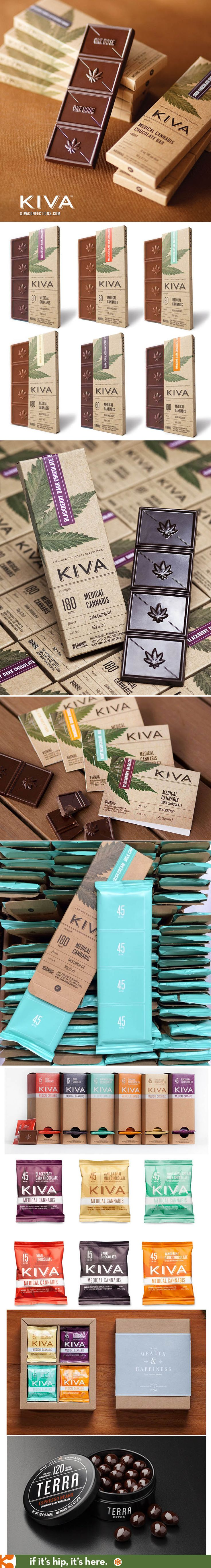 Kiva Confections, medical cannabis edibles, have beautiful packaging, displays and product design.