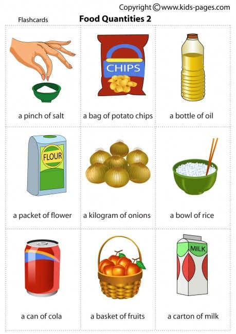 Kids Pages - Food Quantities 2