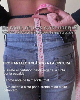 Cómo medir el tiro delantero y trasero de un pantalón clásico a la cintura | EL BAÚL DE LAS COSTURERAS