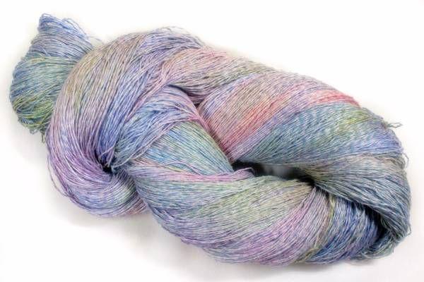 *夢紡ぎ* 手染め糸 l-1 シルク45 リネン55 243g かぎ針編み 棒針編み 手織り 絹麻_画像3