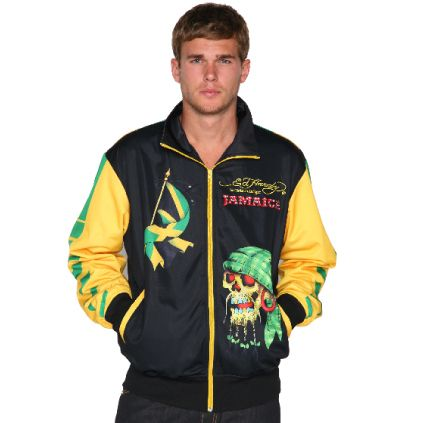 Ed Hardy Mens Country Track Jacket – Yellow