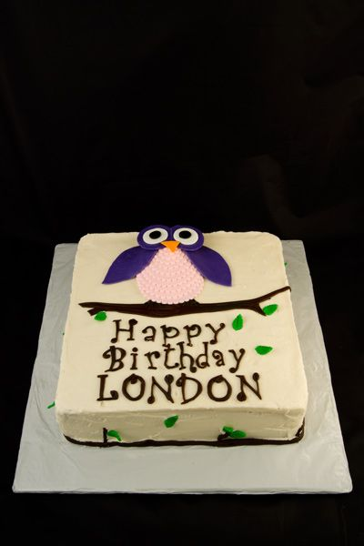 cute and easy owl cake