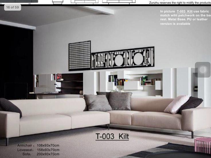 Elegant Sofa, Living Room Furniture, Boston, México City, Coles, Wall  Units, Perspective, Santos, Industrial