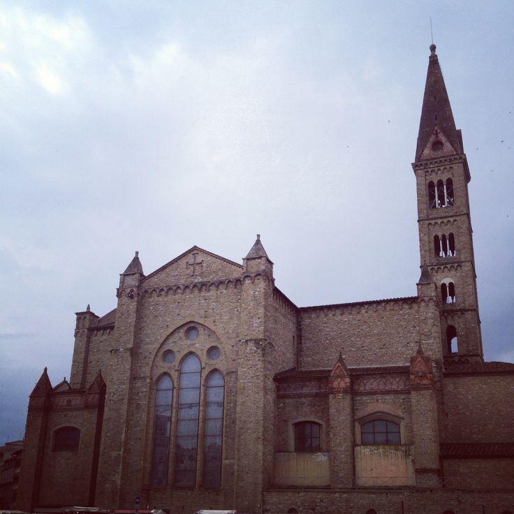 Santa Marina Novella, the back of the church