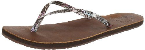 Reef Womens Leather Uptown Luxe Flip FlopMultiSnake10 M US ** Want to know more, click on the image.