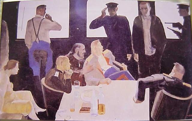"A. Deineka, ""Interrogatorio de comunistas"", 1933"