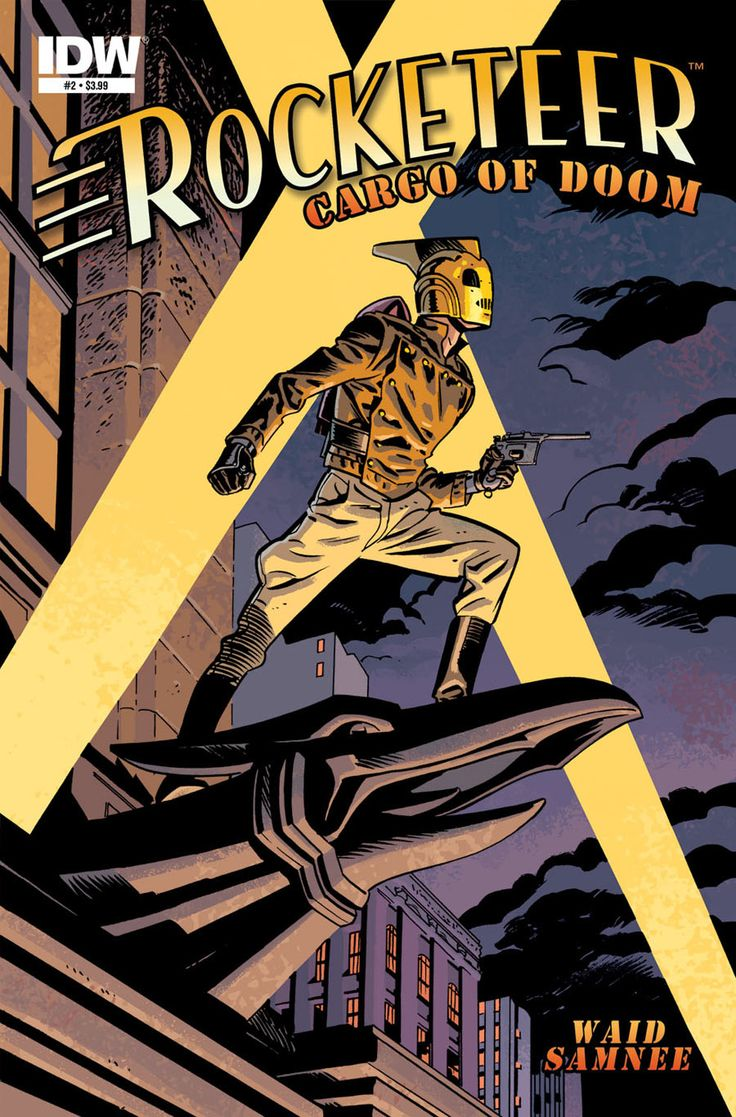 The Rocketeer Cargo of Doom #2 Cover by Chris Samnee