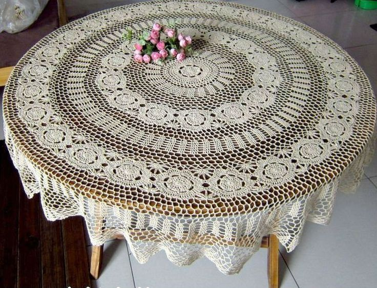 Free Crochet Patterns For Round Tablecloths : cutecrocs.com crochet tablecloth (27) #crocheting ...