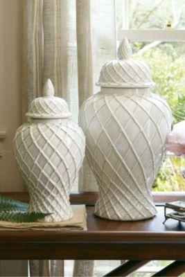 Lattice Ginger Jars - Ceramic Ginger Jars, Ceramic Jars | Soft Surroundings