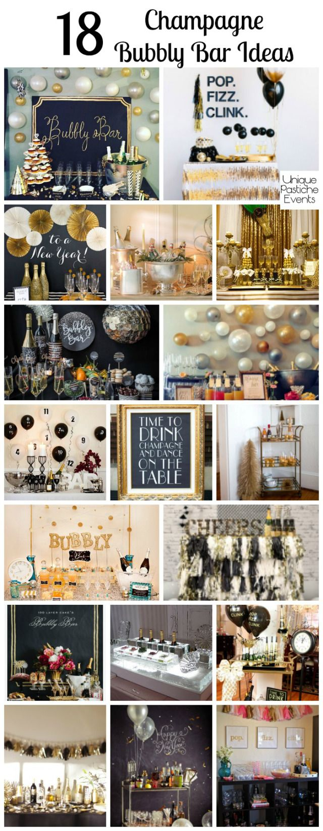 18 Champagne Bubbly Bar Ideas PERFECT For New Years