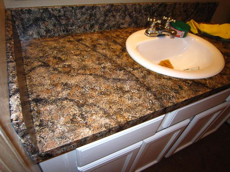 oainting kitchen countertops ideas | DIY Faux Granite Countertop ….without a kit for under $60 ...