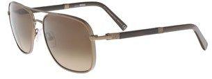 Ermenegildo Zegna Ez0067/s 34f Brown Rectangle Sunglasses.