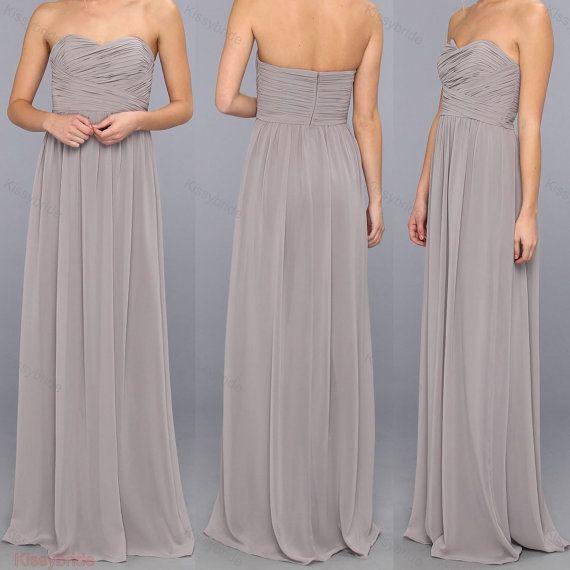 Gray bridesmaid dress  long bridesmaid dress / gray by KissyBride, $94.00