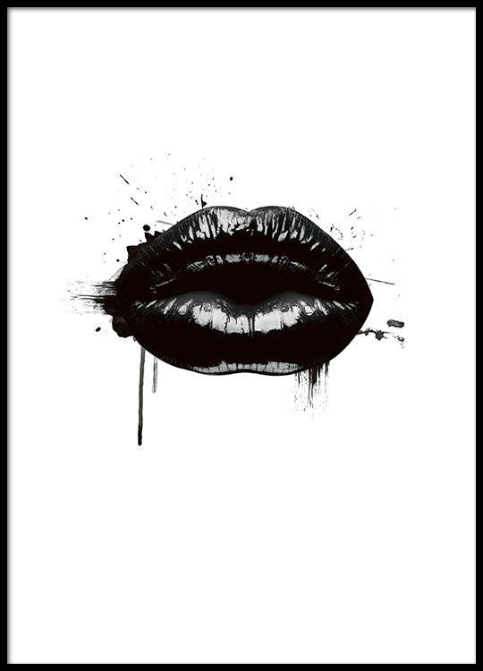 Fashion Lips, poster i gruppen Posters och prints / Storlekar / 21x30cm hos Desenio AB (8490)