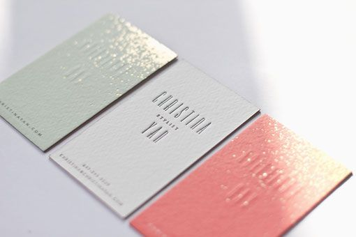 / Christina Yan - blind embossing on coloured card stack - and a little spray of gold.